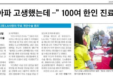 2012 LA Eye Camp -Korea Daily on Feb 25, 13